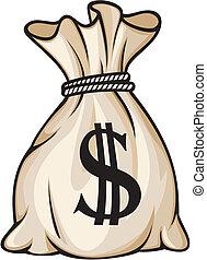borsa, segno dollaro, soldi