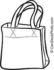 borsa, shopping, scarabocchiare
