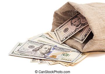 borsa, soldi, dollari