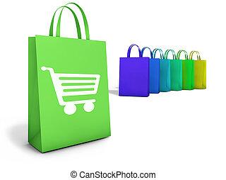 borse, linea fare spese, e-commercio