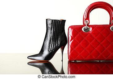 borsetta, moda, scarpe, foto