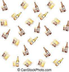 bottiglia birra, occhiali