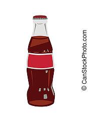 bottiglia vetro, cola