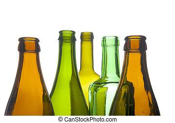 bottiglia vetro, macro