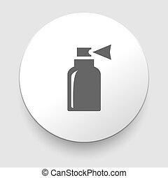 bottiglia, vettore, isolato, illustrazione, icona