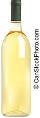 bottiglia, vino, bianco