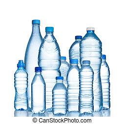 bottiglie acqua, plastica, molti