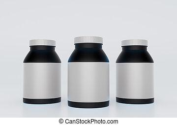 bottiglie, nero