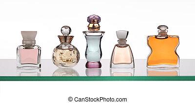 bottiglie, profumo