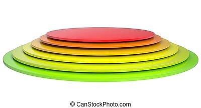 bottone, dischi, colorato