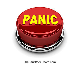 bottone, fermata, spinta, panico, rosso, 3d