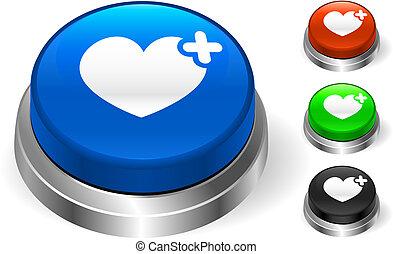 bottone, icona, cuore, internet