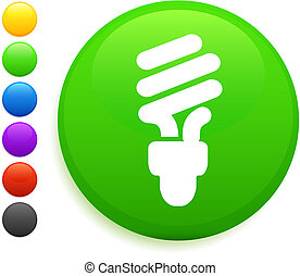 bottone, icona, rotondo, bulbo, luce, internet, fluorescente