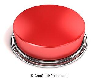 bottone, isolato, rosso