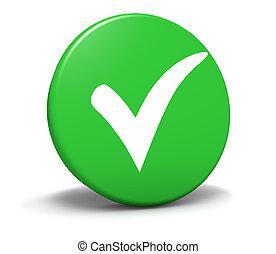 bottone, marchio, verde, simbolo, assegno