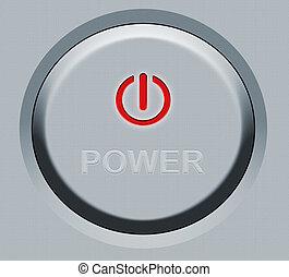 bottone, rotondo, potere