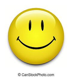 bottone, smiley fronteggiano