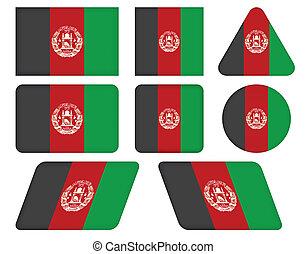 bottoni, afghanistan, bandiera