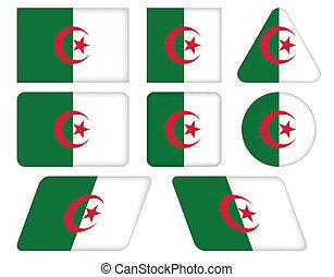 bottoni, bandiera, algeria