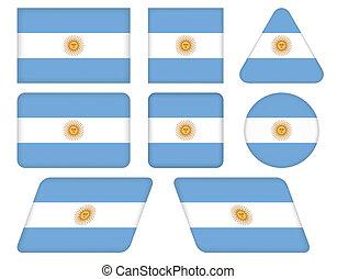 bottoni, bandiera, argentina