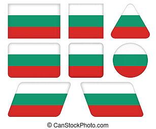 bottoni, bandiera, bulgaria