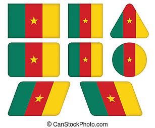 bottoni, bandiera, camerun