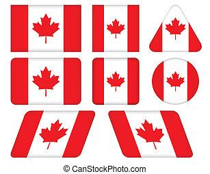 bottoni, bandiera canada
