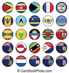 bottoni, bandiere, americano, morbido, rotondo