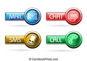 bottoni, comunicazione