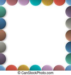 bottoni, cornice, colorato, rotondo