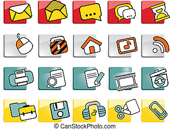 bottoni, icone fotoricettore