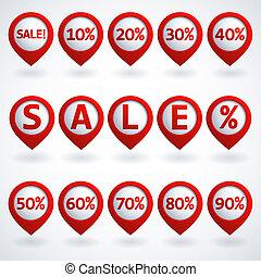 bottoni, set, vendita