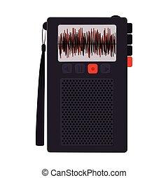 bottoni, tecnologia, registratore, radio