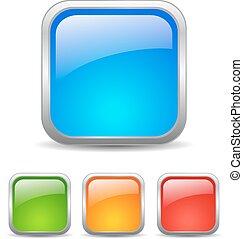 bottoni, web, quadrato