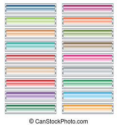 bottoni, web, set, colors., pastello