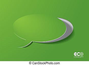 box., eco, -, concetto, discorso, verde