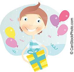 boy!, compleanno, felice