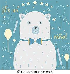 """boy"""", ragazzo, announcement., mezzi, nino"""", language., """"it's, onu, nascita, spagnolo, bambino, """"es"""