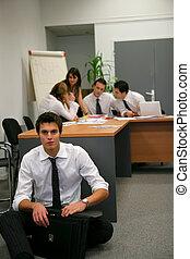 brainstorming, businesspeople