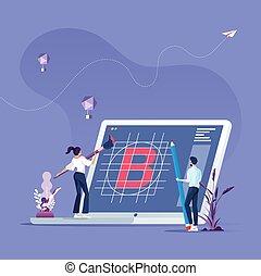 brand-brand, creare, concetto, costruzione squadra, affari