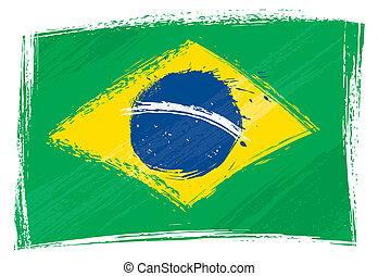 brasile, grunge, bandiera