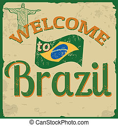 brasile, manifesto, benvenuto, vendemmia