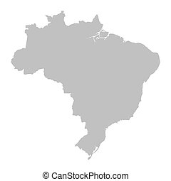 brasile, mappa, grigio