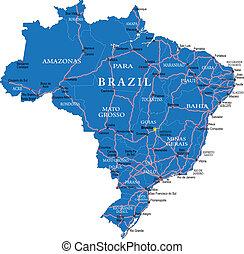 brasile, mappa