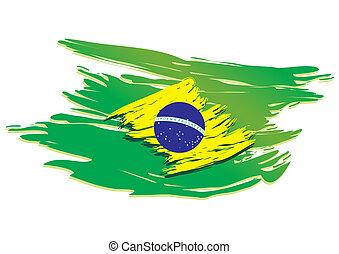 brasile, stilizzato, bandiera