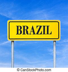 brasile, traffico, parola, segno
