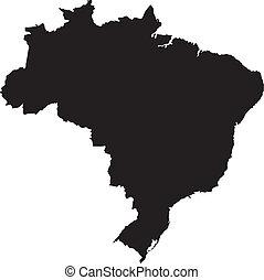 brasile, vettore, illustrazione, mappe