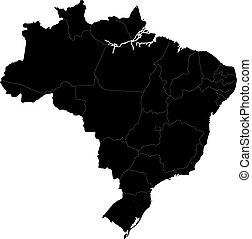 brasilia, nero, mappa