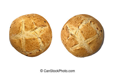 bread, casalingo, fondo, bianco, verdura, isolato