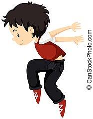 breakdance, solo, ragazzo